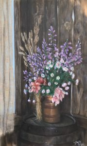 Country bunch - Oil on canvas - 50 x 84 - $850$